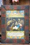 Ícones no templo velho Fotografia de Stock Royalty Free