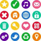 Ícones nos círculos Imagem de Stock Royalty Free