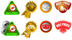 Ícones novos da informação do varejo da venda ilustração stock