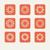 Ícones - o sol Imagem de Stock Royalty Free