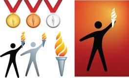 Ícones olímpicos ilustração royalty free