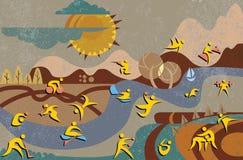 Ícones olímpicos do verão Imagem de Stock Royalty Free