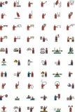 Ícones olímpicos dos esportes Imagem de Stock