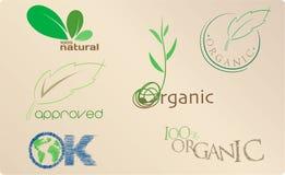Ícones orgânicos Fotos de Stock Royalty Free