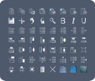 Ícones para aplicações da barra de ferramentas Fotos de Stock Royalty Free