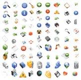 Ícones para aplicações informáticas da Web Fotografia de Stock