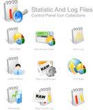 Ícones para desenhadores do Web ilustração stock