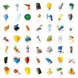 Ícones para a indústria e os computadores Foto de Stock