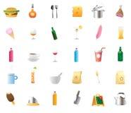 Ícones para o alimento e as bebidas Imagens de Stock Royalty Free