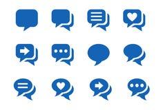 Ícones para o bate-papo Imagem de Stock