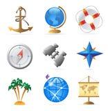 Ícones para o curso de mar Foto de Stock Royalty Free