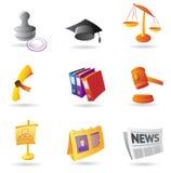 Ícones para o negócio Fotografia de Stock Royalty Free