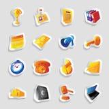 Ícones para o negócio Imagens de Stock Royalty Free