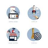Ícones para o projeto gráfico Fotografia de Stock Royalty Free