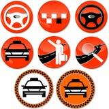 8 ícones para o táxi Imagem de Stock Royalty Free