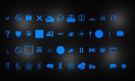 Ícones para o Web Fotografia de Stock