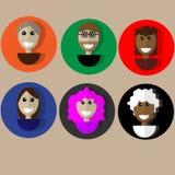 Ícones para os povos do local Fotos de Stock Royalty Free