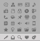 Ícones para seu blogue Foto de Stock