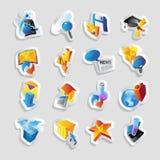 Ícones para a tecnologia e a relação ilustração stock