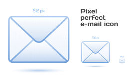 Ícones perfeitos do email do pixel Imagem de Stock