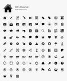 93 ícones perfeitos do pixel universal Imagem de Stock Royalty Free