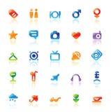 Ícones perfeitos para o curso Fotos de Stock