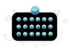 Ícones plásticos azuis - vetor Imagens de Stock Royalty Free