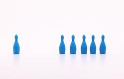 Ícones plásticos do brinquedo como a equipe e o gerente Imagens de Stock