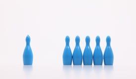 Ícones plásticos do brinquedo como a equipe e o gerente Imagem de Stock Royalty Free