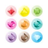 Ícones preciosos das gemas imagem de stock royalty free