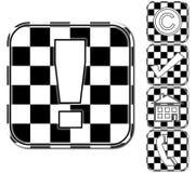 Ícones preto e branco Imagens de Stock