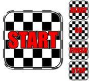 Ícones preto e branco e vermelhos Fotografia de Stock Royalty Free