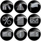 Ícones pretos Fotografia de Stock