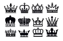 Ícones da coroa Fotos de Stock