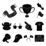 Ícones pretos ventile e do atributo na coleção do grupo para o projeto Ilustração da Web do estoque do símbolo do vetor do fã de  ilustração do vetor