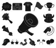 Ícones pretos ventile e do atributo na coleção do grupo para o projeto Ilustração da Web do estoque do símbolo do vetor do fã de  ilustração royalty free