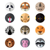 Ícones principais animais Imagens de Stock