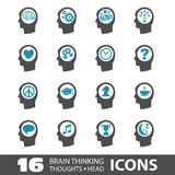 Ícones principais de pensamento Foto de Stock Royalty Free