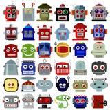 Ícones principais do robô ilustração stock
