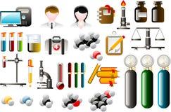 Ícones químicos Imagens de Stock Royalty Free