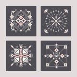 Ícones quadrados abstratos geométricos Fotografia de Stock Royalty Free