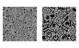 Ícones quadrados da forma do mosaico de ferramentas do serviço ilustração do vetor