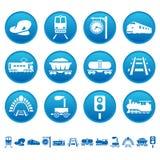 Ícones Railway Imagens de Stock