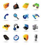 Ícones realísticos ajustados para vários dispositivos Fotografia de Stock Royalty Free
