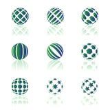 Ícones redondos Imagem de Stock Royalty Free