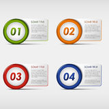 Ícones redondos do progresso colorido do grupo Foto de Stock