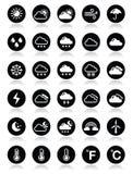 Ícones redondos do tempo ajustados Imagem de Stock Royalty Free