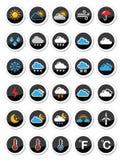 Ícones redondos do tempo ajustados Fotografia de Stock Royalty Free