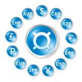 Ícones redondos do vetor por taxas das marcas Imagens de Stock Royalty Free