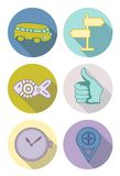 Ícones redondos nas cores pastel Foto de Stock Royalty Free